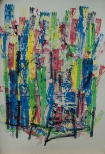 Caotiche impressioni- 2009Tec.mista su cartoncino
