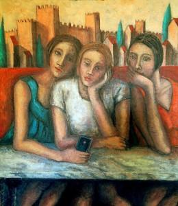 Malinconico selfie2018 olio su tela