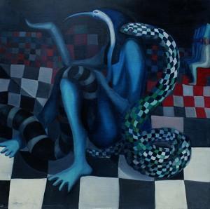 Ibis con serpente 2004