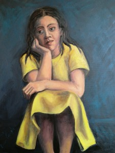 Leda in giallo 2018Olio su tela  40x50