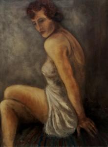 Donna fatale 1993Olio su tela 60x80