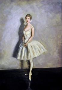 Ballerina 2017 olio su tela  50x70